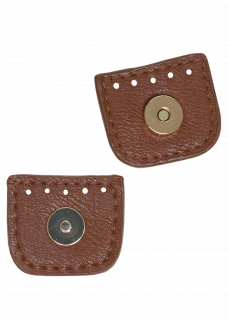 Magnet knap 4 cm brun