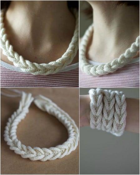 strikket halskæde