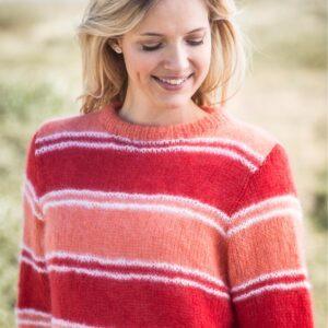 stribet damesweater